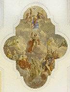 Stropna slika - Kronanje device Marije